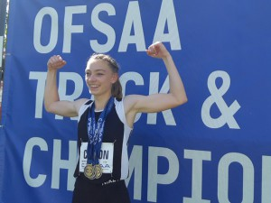 2019 OFSAA Junior  Champion Jillian Catton - Also BTC Athlete of the Month